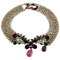 Christian Lacroix Vintage Bejeweled Collar Necklace