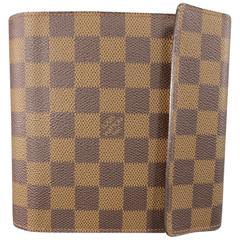 LOUIS VUITTON Case - Brown Damier Canvas CD Disc Case W/ Strap