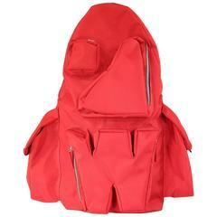WALTER VAN BEIRENDONCK CHRIS & TIBOR Red Nylon Spring 2011 W Backpack
