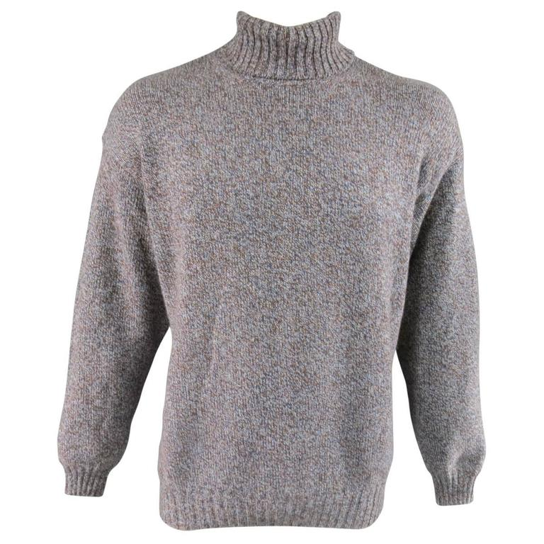 cashmere high neck sweater - Blue Loro Piana