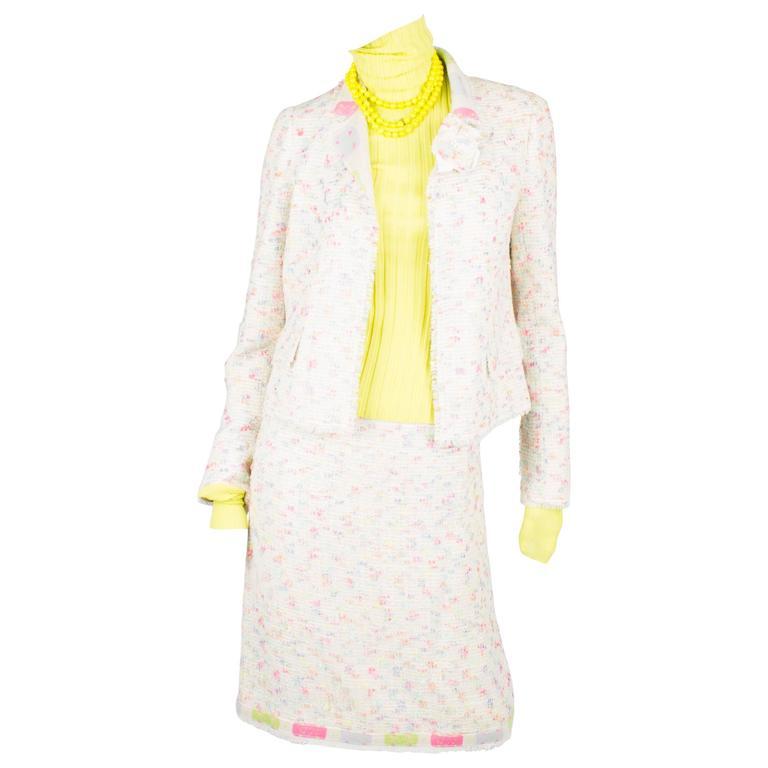 Chanel 2-pcs Wool/Cashmere Suit - multicolor 2003