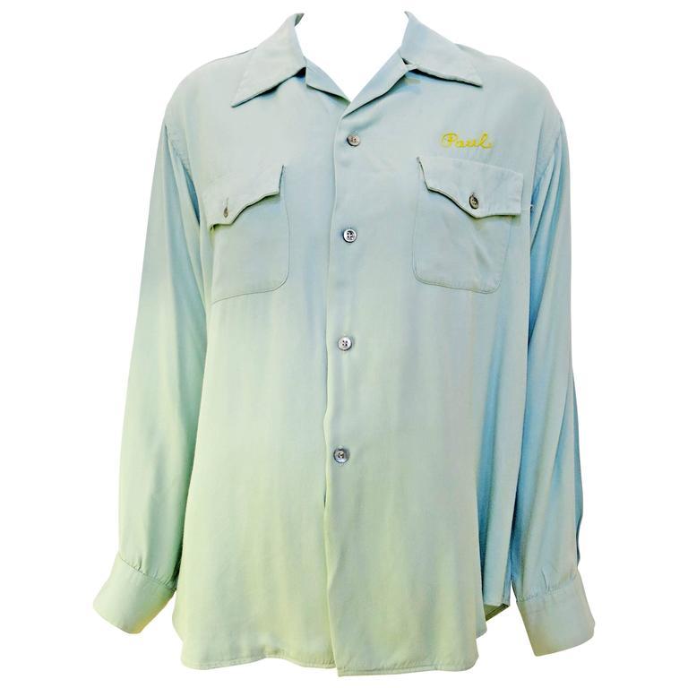 """1940s Gabardine """"Fairmount Hussars"""" Shirt"""