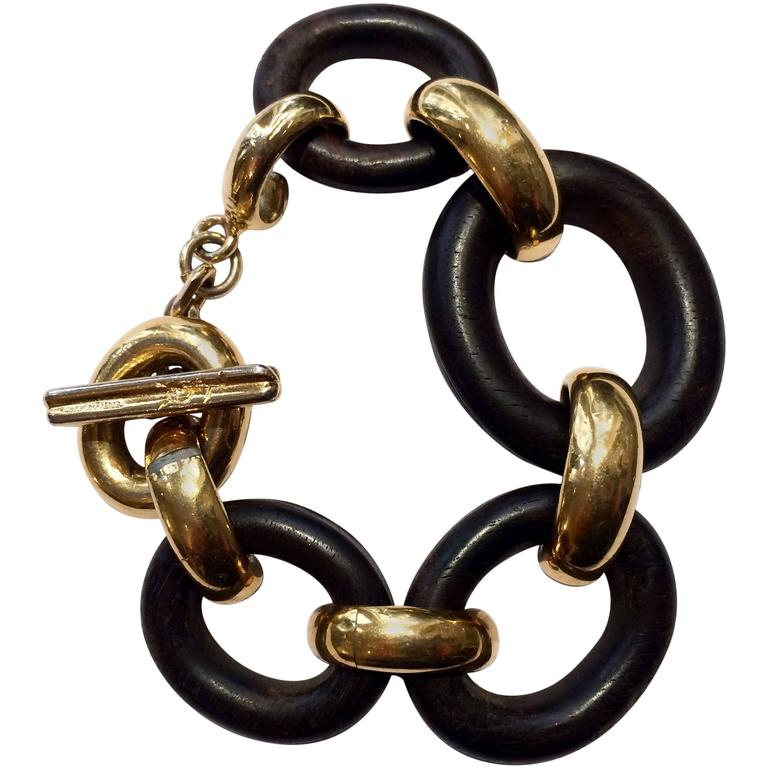 1980s yves saint laurent chain bracelet for sale at 1stdibs - Bracelet yves saint laurent ...