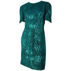 80s Green Seqiun Dress