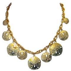 Starfish Disc Vintage Necklace