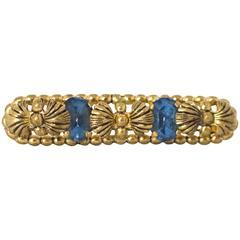 40s Blue Crystal Brooch
