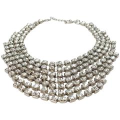 80s Tiered Crystal Necklace