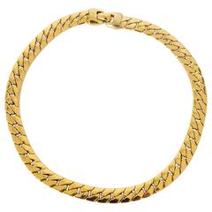80s Napier Gold Link Necklace