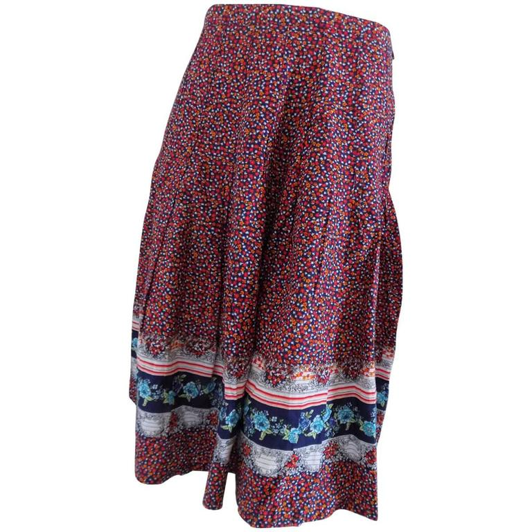 Multicolor vintage long skirt