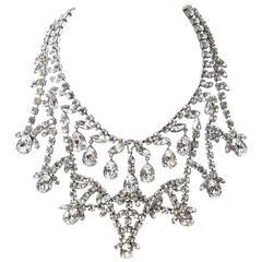 Massive 1960s Rhinestone Necklace / Schreiner