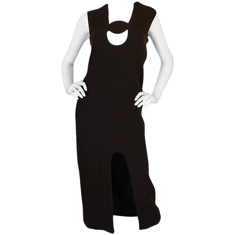 1969-1970 Haute Couture Pierre Cardin Cut Out Dress 1