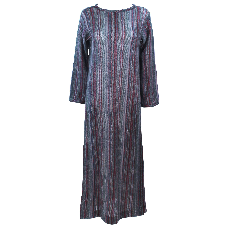 387169bd381 MISSONI Grey Mauve Green Full Length Sweater Dress Size Medium Large For  Sale at 1stdibs