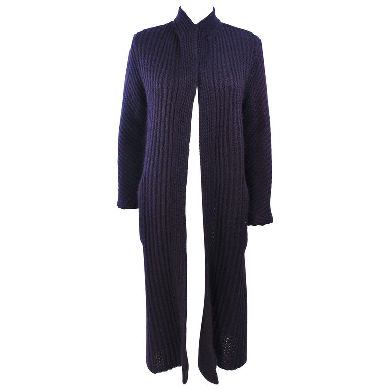 MISSONI Purple Wool Knit Full Length Sweater Size Medium