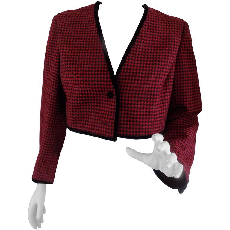 Pied de Poule red and black jacket