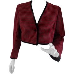 Pied de Poule red and black jacket