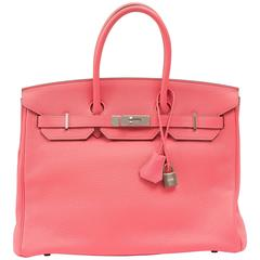 Exceptional and Rare Rose Lipstick Hermes Birkin in 35cm
