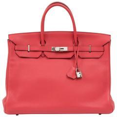 Hermes Birkin 40cm bougainvillier Bag