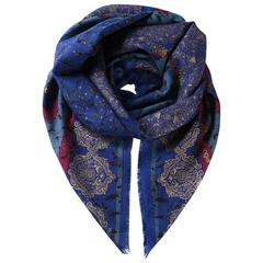 Gorgeous Emmanuel Ungaro floral baroque over-sized scarf 80s