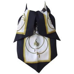 Rare Hermes Silk Scarf Lavalliere Ascot tie Voitures a Transformation Ledoux