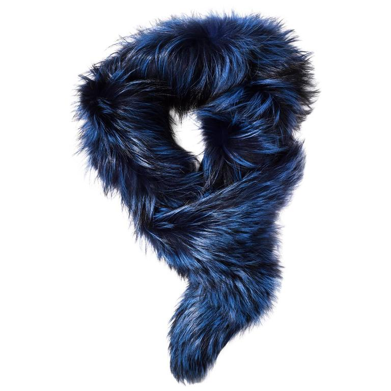 Lorry Newhouse Midnight Blue Fox Stole