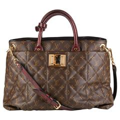 Louis Vuitton Brown Classic Monogram Canvas Ostrich and Python Etoile, 2010s