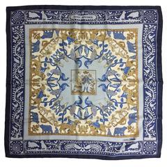 """Hermes Early America silk twill scarf Françoise De La Perriere 36"""" x 36"""""""