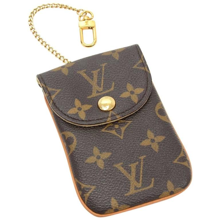 louis vuitton etui telephone mm monogram canvas phone case at 1stdibs