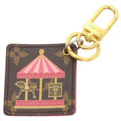 Louis Vuitton Illustre Carousel Monogram Gold Tone Key Chain/Holder