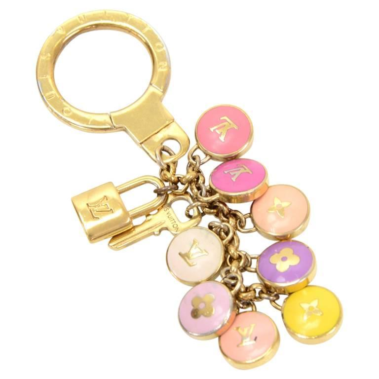Louis Vuitton Pastilles Multicolor Gold Tone Key Chain / Charm 1