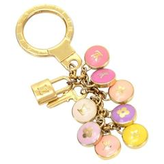 Louis Vuitton Pastilles Multicolor Gold Tone Key Chain / Charm