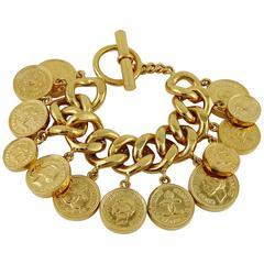 Chanel Vintage Iconic Coin Charm Bracelet