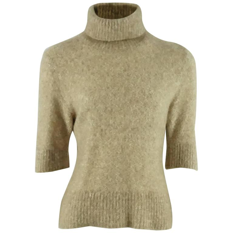 6e526925a86 Loro Piana Beige Cashmere Turtleneck Sweater - 44