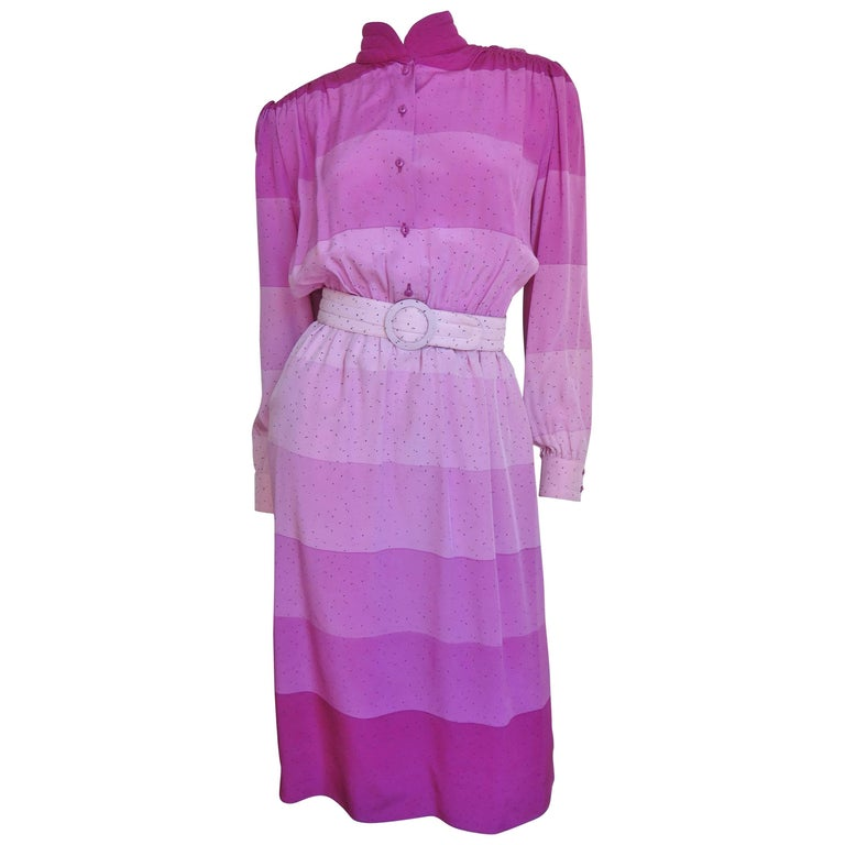 1970s Louis Feraud Silk Dress