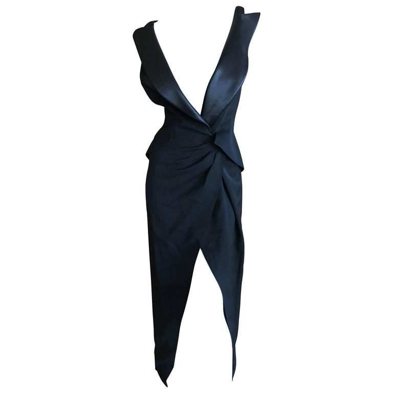 Thierry Mugler Couture Tuxedo Dress and Corset 1988 For Sale