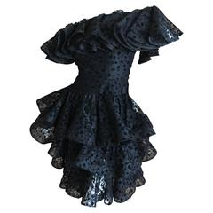 Romantic Ruffle Lace  Dress by Arnold Scaasi