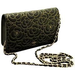 CHANEL Camellia WOC Wallet On Chain 2015 Shoulder Bag Crossbody