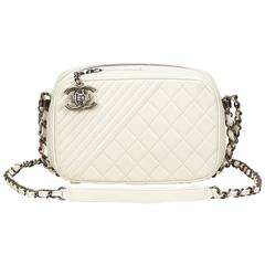 Chanel White Camera Bag