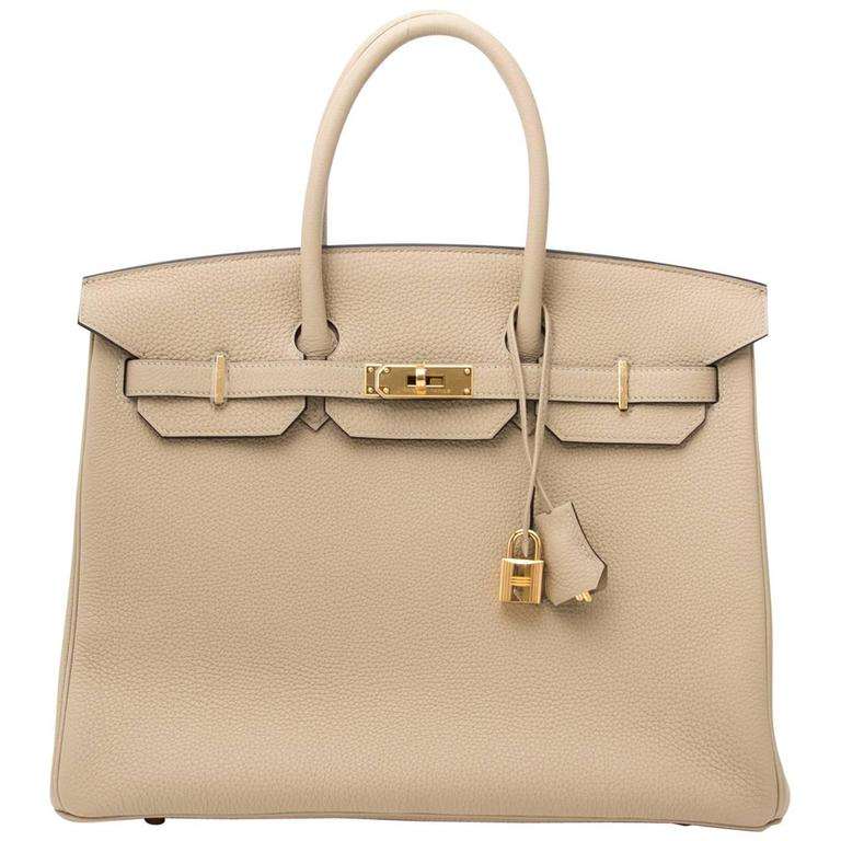 ee9e65696789 Brand new Hermès Birkin 35 Trench Togo at 1stdibs