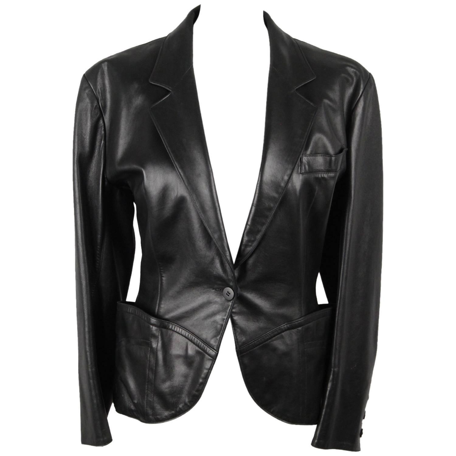 Though Men's black leather jacket is a casual wear that is highly suitable for informal settings and doesn't fit for board room formality, by pairing it with blending dress shirt, tie and formal slacks, you can embrace a professional look with a rugged touch.