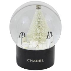 Chanel Collectible Snowball / Dome with Shopping Bags