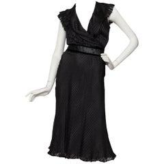 80s Black Chloé Silk Cocktail dress