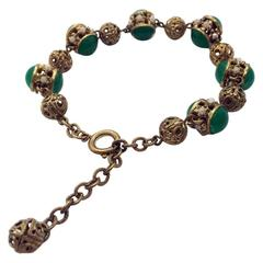1930s Glass Beads  and Seed Pearl Bracelet