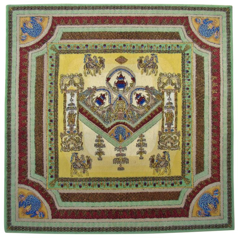 """Limited Edition """"Voyage en Chine"""" Atelier Versace Hand Knotted Wool Rug 1"""