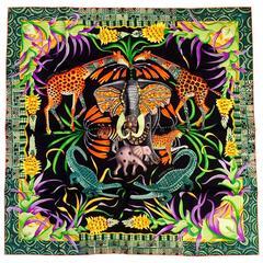 NWB Hermes La Marche du Zambeze Silk Twill Scarf by Ardmore Artists