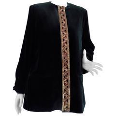Gossi Green Velvet Jacket