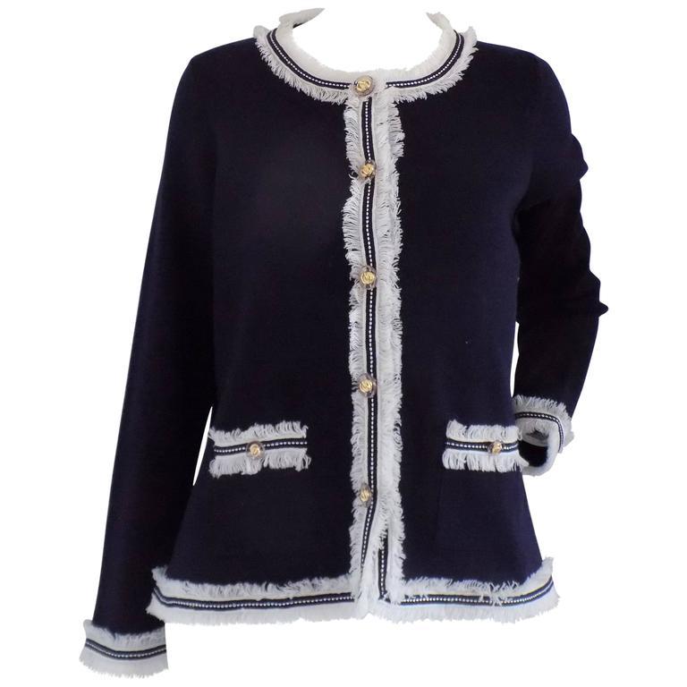 fa56c72d94 Luisa Spagnoli Blu Wool Jacket For Sale at 1stdibs