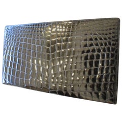 gucci black crocodile leather wallet