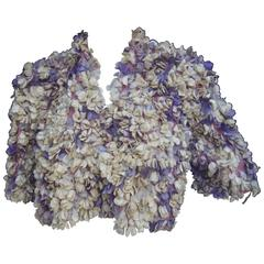Jean Desses Paris Couture Museum Worthy Flower Pedal Bolero c 1950