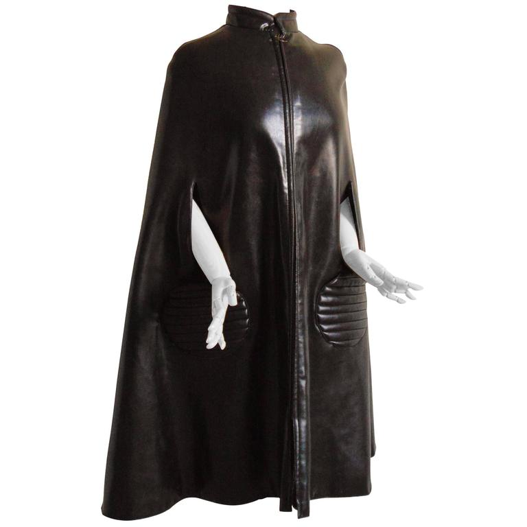 Space-age vinyl cape, 1960s, offered by Monalisa Creations