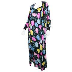 1970's Missoni Silk Jersey Gown & Jacket Ensemble